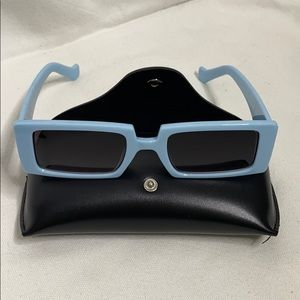 Accessories - Baby Blue Square Sunglasses Smoked Lens UV 400